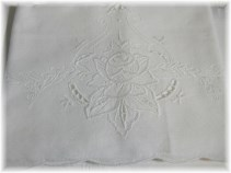 Beautiful Cutwork & Embroidered Rose Pillowcases