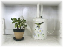 Chippy Hummingbird Watering Can-Chippy, HP, painted, watering can