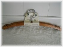 Unused Vintage Wooden Hangers, set of 4